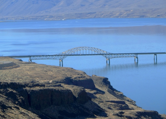 Bridge near Wild Horses Monument, Washington State