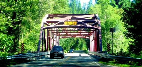 Bridge along Snohomish Mountain Loop Highway, WA